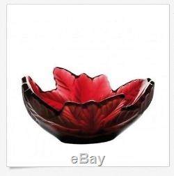 $1850 Lalique Crystal Bowl Paysage Compiegne Red Champs Elysees 10330000 MIB