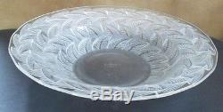 Antique Circa 1940's R. Lalique France Glass Bowl Clear Frosted 12.5x 2.5