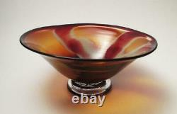 AUSTRALIAN STUDIO ART GLASS BOWL SIGNED JAMES McMURTRIE 1999 GALLERY QUALITY