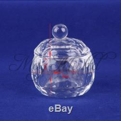 Ail Art Acrylic Crystal Glass Dappen Dish Lid Bowl Cup Liquid Powder Container W