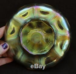 Antique Authentic L. C. T Tiffany Irridescent Art Glass Underplate Saucer Bowl, NR