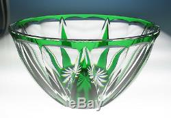 Antique Emerald Cut To Clear Glass Bowl Art Deco Val St Lambert Louis Crystal