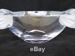 Awesome Lalique France Crystal 12.5 Massive Floral Bowl