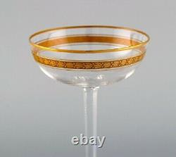Baccarat, France. 11 Art Deco champagne bowls in mouth-blown crystal glass