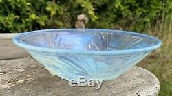Beautiful Vintage Art Deco French Opalescent Fruit Bowl Made By Jobling