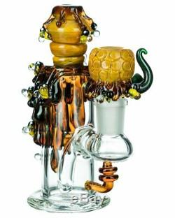 Beehive Nano Water Pipe with Bowl Handblown Glass Art by Empire Glassworks