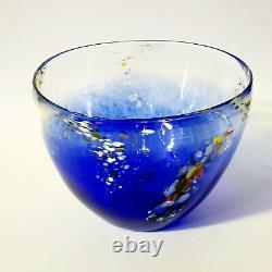 Blue Glass Bowl Hand crafted colourful glass art by Eamonn Vereker