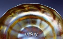 C1900 Signed LCT Favrile Tiffany Iridescent Art Glass Center Bowl No Reserve