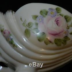 Cambridge Crown Charleton Pink Milk Glass Bowl Nude Flying Lady Art Deco Fenton