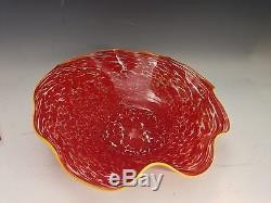Chihuly beautiful early Art Glass Unique Bowl signed