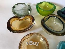 Collection Of 11 Murano Glass Bowls By Barbini, Scarpa, Ogetti, Seguso Sommerso
