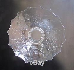 Complete Walther & Sohne Centrepiece Lilli Clear Glass Art Deco Bowl Frog Lady