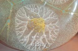 DELICIOUS Mid-Century Modern Fused Art Glass Bowl Higgins! STUNNING