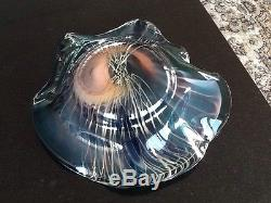 Dale Chihuly Large Bowl Vessel Glass Sculpture Signed