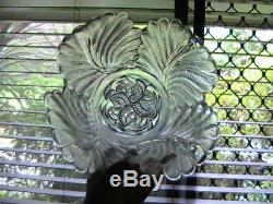 Extremely Rare Libochovice Art Deco Glass Bowl and Frog frog