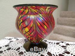 FENTON DAVE FETTY MOSAIC FOOTED BOWL SIGNED AND DATED 07 SELLING NO RESERVE