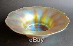 Fine 9.75 Signed TIFFANY FAVRILE Art Glass Bowl c. 1910 American antique