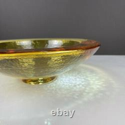 Fire & Light Originals Recycled Art Glass 10.75 Wide Lipped Bowl in Citrus
