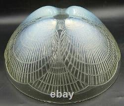 French ART DECO Large Opalescent Coquille Glass Bowl by Rene Lalique, ca 1924