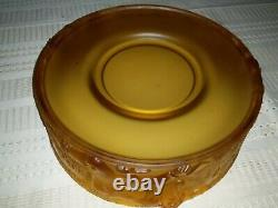 Frosted Amber Ice Man Art Deco Float Bowl