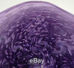 Hand Blown Glass Art Wall Bowl Platter By Dirwood Shades Of Purple Murano Style