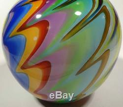 Hand Blown Glass Bowl/vase Made With Glass Canes Murano Style By Dirwood