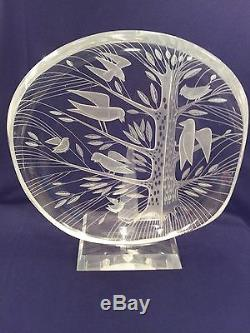 Helen Tynell Art glass Bowl Riihimaen Lasi Oy Finland Mid Century signed
