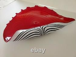 Jozefina Atelier Shell F63 Hand Crafted Conch Shell Bowl Art Glass Poland