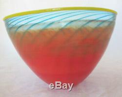 Kosta Boda Art Glass Hand Blown Large Bowl Numbered 59062 & Signed K Engman