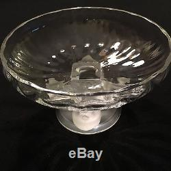 LALIQUE Crystal NOGENT Pedestal Bowl Compote Candy Dish 4 Frosted Birds