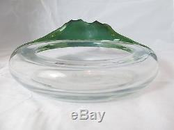 LALIQUE French Art Glass YESO Antinea BOWL Green FISHNo Reserve