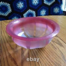 LCT TIFFANY FAVRILE Spectacular Pink Bowl 7 Inch Diameter. Great Condition