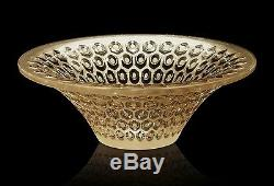 Lalique #10412200 Coupelle Rayons Small Bowl Gold Luster Brand Nib Paris F/sh