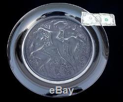 Lalique COTE D'OR Crystal CHARGER/Plate/Bowl French ART DECO Glass 15 3/4 -EX