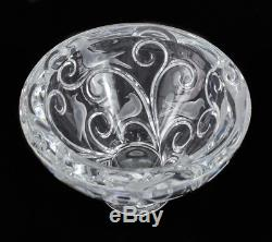 Lalique France Clear & Frosted Art Glass Crystal Bowl Verone, Signed