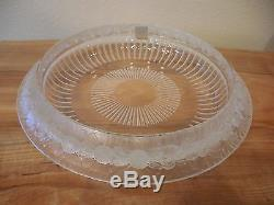 Lalique France Marguerites Center Piece Counsel Bowl Crystal Signed