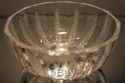 Lalique French Art Crystal Ceres Wheat Bowl Designed by Marc Lalique ca. 1970