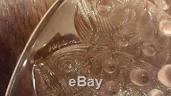 Lalique Roscoff 13 3/4 Centerpiece Bowl with Fish and Bubbles Champagne Color