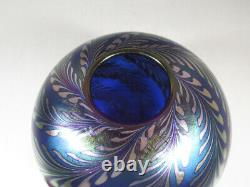 Large Correia Art Glass Pulled Feather Bowl or Vase