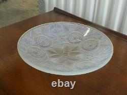 Large French Art Deco Opalescent Glass Bowl Marked France