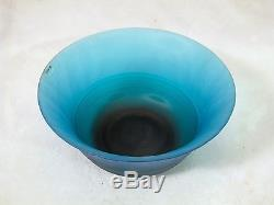 Large Italian MURANO Art Glass Bright Blue Bowl By VeArt