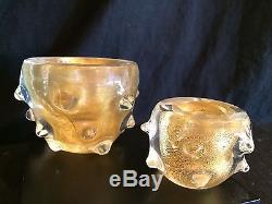 Murano Vintage Gold A Bugne Bowls