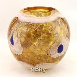 New 6 Hand Blown Glass Art Vase Bowl Amber Blue White Multicolor Decorative