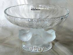 New Lalique Crystal Nogent Bowl #1105100 Brand Nib French Bird Nice $300 Off F/s