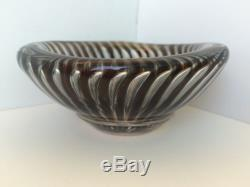 Orrefors Ariel Glass Bowl by Edvin Ohrstrom 1950s Art Glass No Reserve