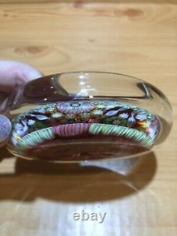 Perthshire Art Glass Paperweight Bowl Close Pack Candy Colors Millefiori Floras