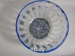 Perthshire Paperweight End of Day Center withLatticinio Rod Sides Bowl EC