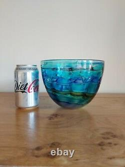 Peter Layton Studio Art Glass Bowl Signed 6 Inches Wide