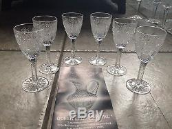 Queen Lace Bohemian Cut Crystal Collection- 17 Pieces- Bowls, Glasses, Pie Stand