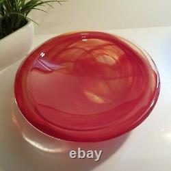 Red Atoll 12 Art Glass Bowl by Kosta Boda in Sweden
